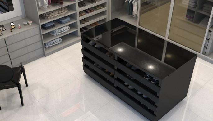 28 - Closet - Black São Domingos, Blanco Aldam