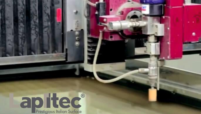 Lapitec: Waterjet - cięcie proste i wykończenie