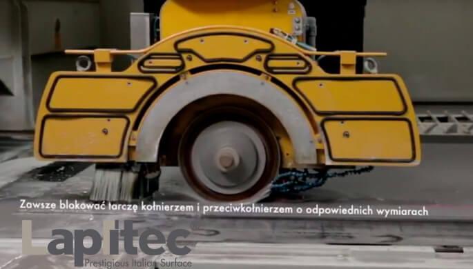 Lapitec: Frezarka mostowa - przygotowanie płyty z tarczą Lapitec