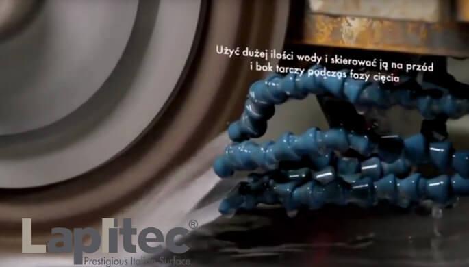 Lapitec: Frezarka mostowa - cięcie proste z tarczą Lapitec